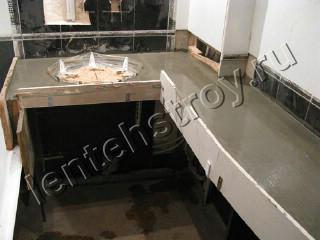 Как сделать бетонные столешницы